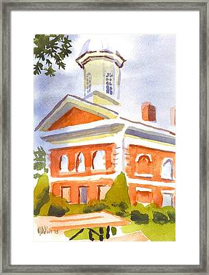 Courthouse With Picnic Table Framed Print by Kip DeVore