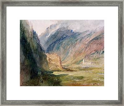 Couvent Du Bonhomme Chamonix Framed Print by Joseph Mallord William Turner
