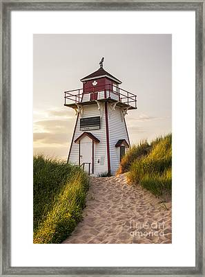 Covehead Harbour Lighthouse Framed Print by Elena Elisseeva