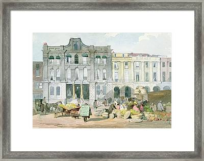 Covent Garden Market Wc On Paper Framed Print by English School
