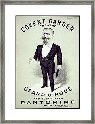 Covent Garden Theatre Framed Print by British Library