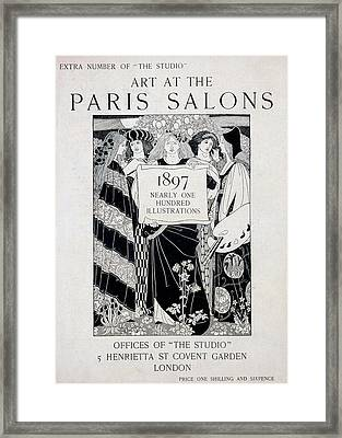 Cover For Art At The Paris Salons Framed Print by English School