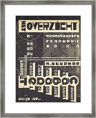 Cover For The Magazine Het Overzicht Framed Print by Belgian School