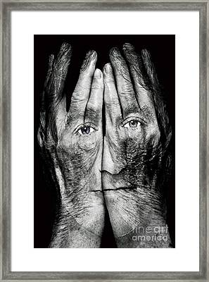 Cover Thy Faces Framed Print by Gary Keesler