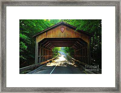 Covered Bridge At Sleeping Bear Dunes National Lakeshore Framed Print by Terri Gostola