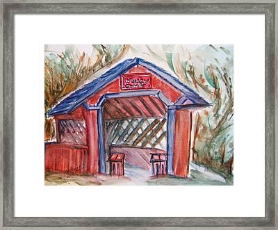Covered Bridge Loretto Kentucky Framed Print by Elaine Duras