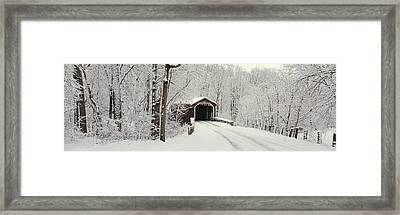 Covered Bridge Pa Framed Print by Panoramic Images