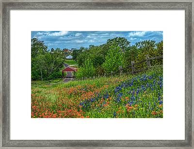 Covered Bridge Framed Print by Tom Weisbrook