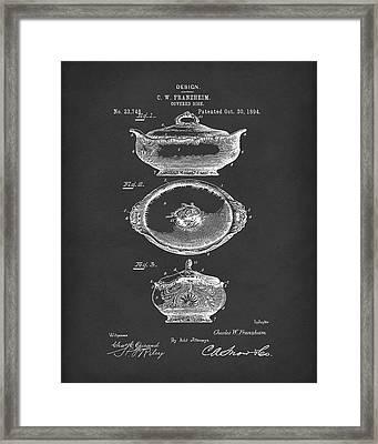 Covered Dish 1894 Patent Art Black Framed Print by Prior Art Design