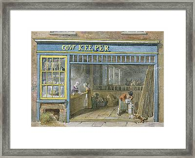 Cow Keeper Framed Print by George the Elder Scharf