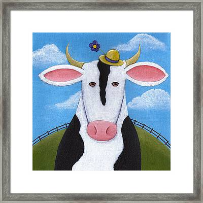 Cow Nursery Wall Art Framed Print by Christy Beckwith