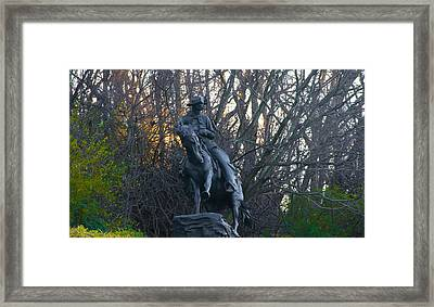 Cowboy 1908 By Frederic Remington Framed Print by Bill Cannon
