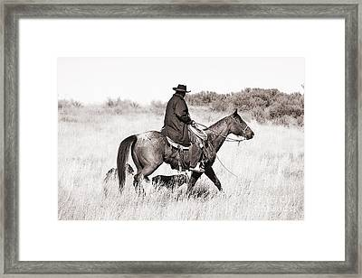 Cowboy And Dogs Framed Print by Cindy Singleton