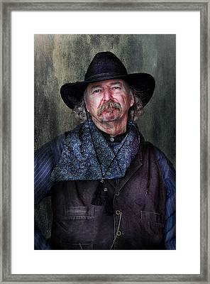 Cowboy Framed Print by Barbara Manis