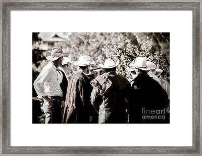 Cowboy Bunch Framed Print by Trish Mistric