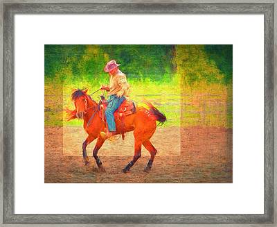 Cowboy Dance Framed Print by Alice Gipson