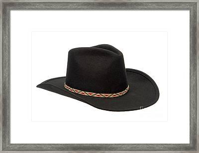 Cowboy Felt Hat Framed Print by Olivier Le Queinec