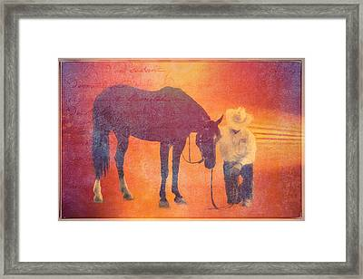 Cowboy Prayer Framed Print by Alice Gipson