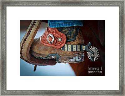Cowboy Spurs Framed Print by Inge Johnsson