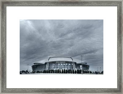 Cowboy Stadium Framed Print by Joan Carroll