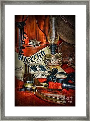 Cowboy - The Sheriff Framed Print by Paul Ward