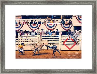 Cowboy Up Framed Print by Charles Dobbs