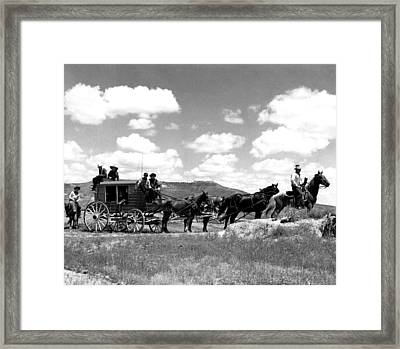 Cowboy Wagon Ride Framed Print by Retro Images Archive