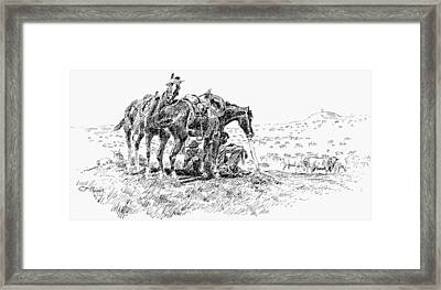 Cowboys, 19th Century Framed Print by Granger