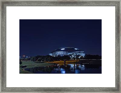 Cowboys Stadium Game Night 1 Framed Print by Jonathan Davison