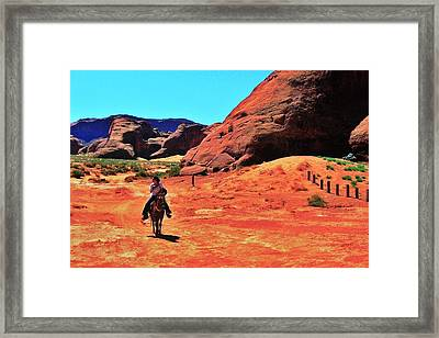 Cowgirl 2 Framed Print by Benjamin Yeager