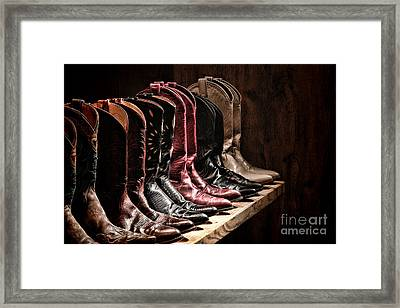 Cowgirl Boots Collection Framed Print by Olivier Le Queinec