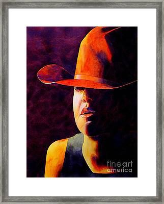 Cowgirl Framed Print by Robert Hooper