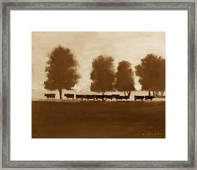 Cowherd Framed Print by J Reifsnyder