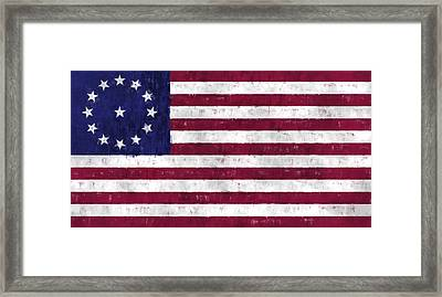 Cowpens Flag Framed Print by World Art Prints And Designs