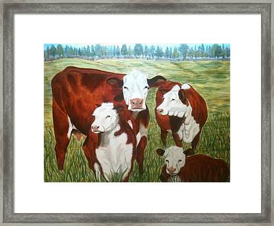 Cows Four Framed Print by Lee Halbrook