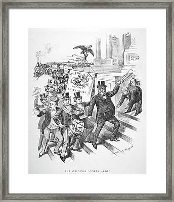 Coxey's Army Cartoon, 1894 Framed Print by Granger