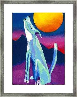 Coyote Azul Framed Print by Stephen Anderson