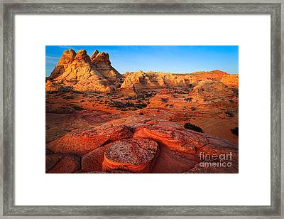 Coyote Buttes Framed Print by Inge Johnsson