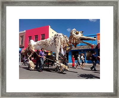 Coyote On Parade Framed Print by Feva  Fotos