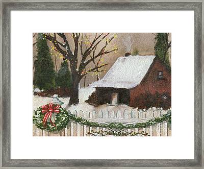 Cozy Cottage Framed Print by Cheryl Young