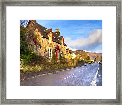 Cozy Cottage In A Scottish Village Framed Print by Mark E Tisdale