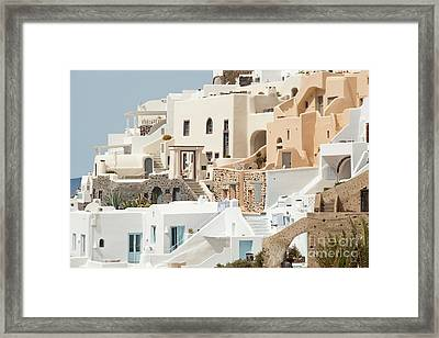 Cozy Hotels Framed Print by Aiolos Greek Collections