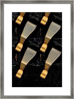 Cpu Socket Pins Framed Print by Antonio Romero