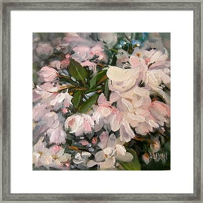Crab Apple Blossoms Framed Print by J R Baldini