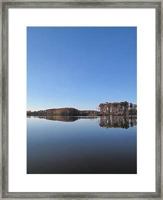 Crab Orchard Lake's Blue Mood Framed Print by Frank Chipasula