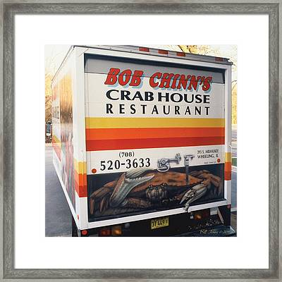 Crabhouse Truck Framed Print by Bill Jonas