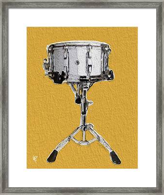 Crack Of The Snare Framed Print by Russell Pierce