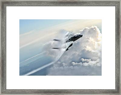 Crack The Sky Framed Print by Peter Chilelli