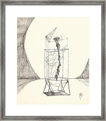 Cracked... Sketch Framed Print by Robert Meszaros