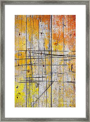 Cracked Wood Background Framed Print by Carlos Caetano
